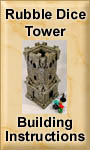 How to build a rubble dice tower